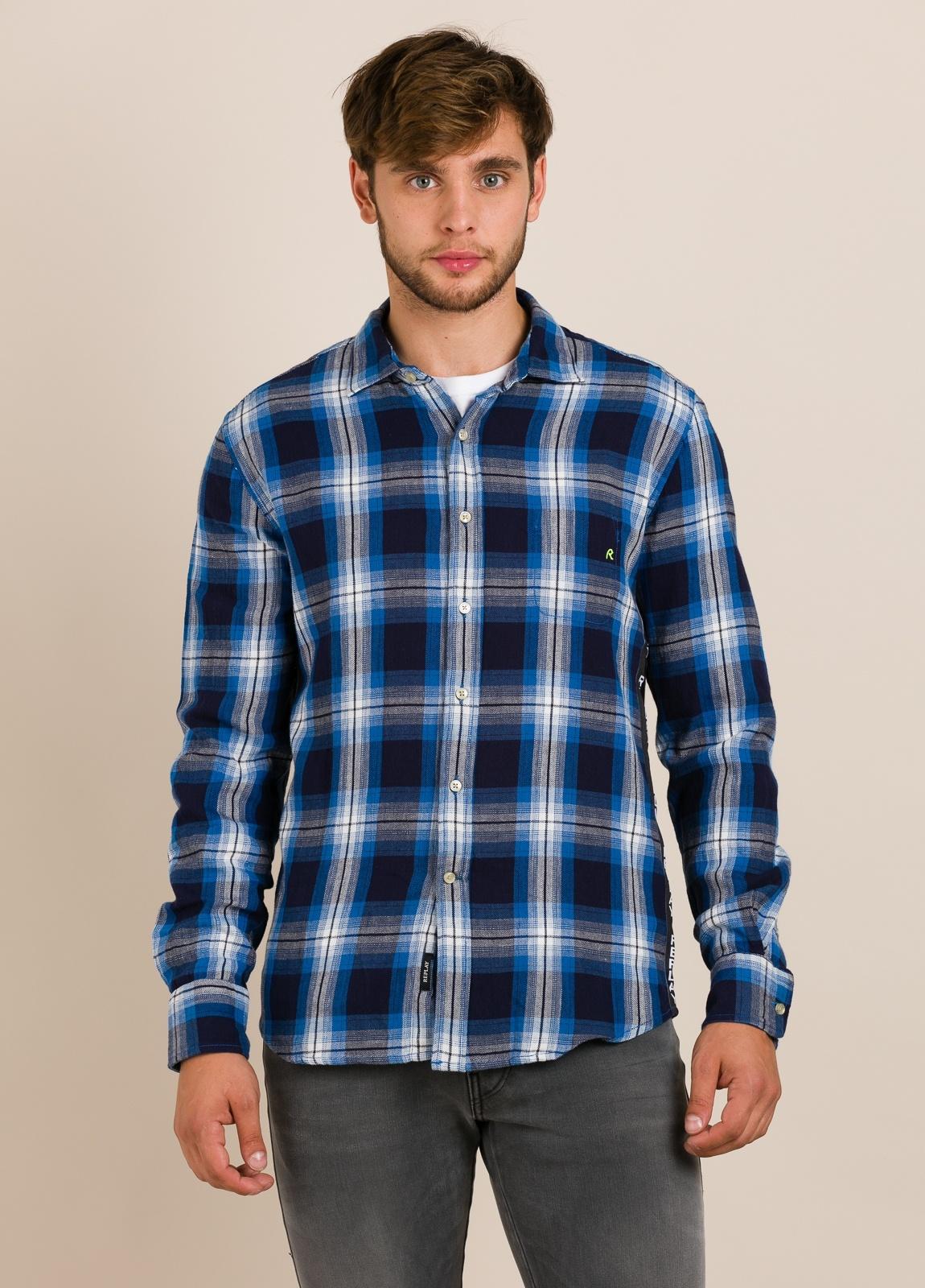 Camisa REPLAY cuadros azules