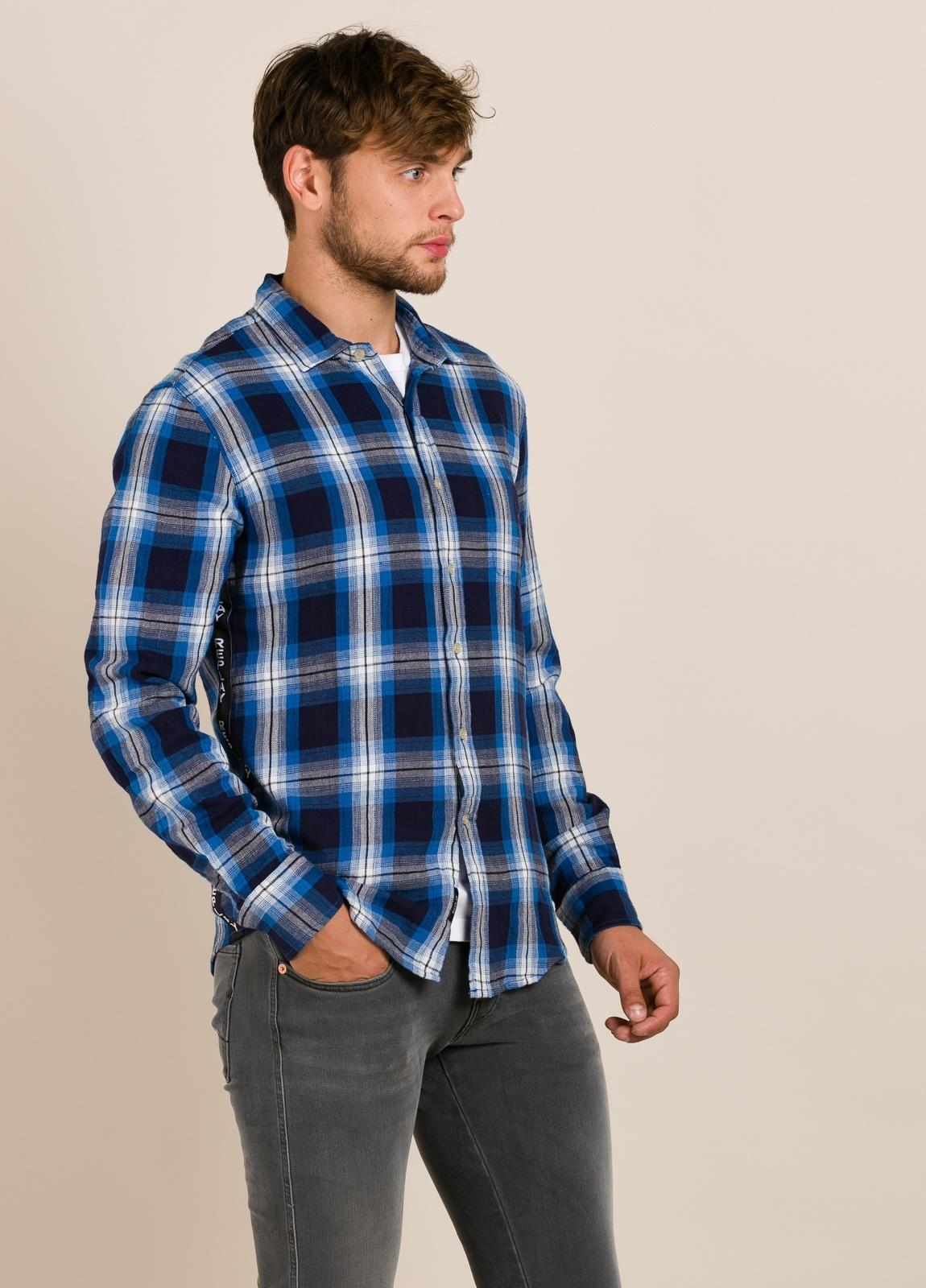 Camisa REPLAY cuadros azules - Ítem1