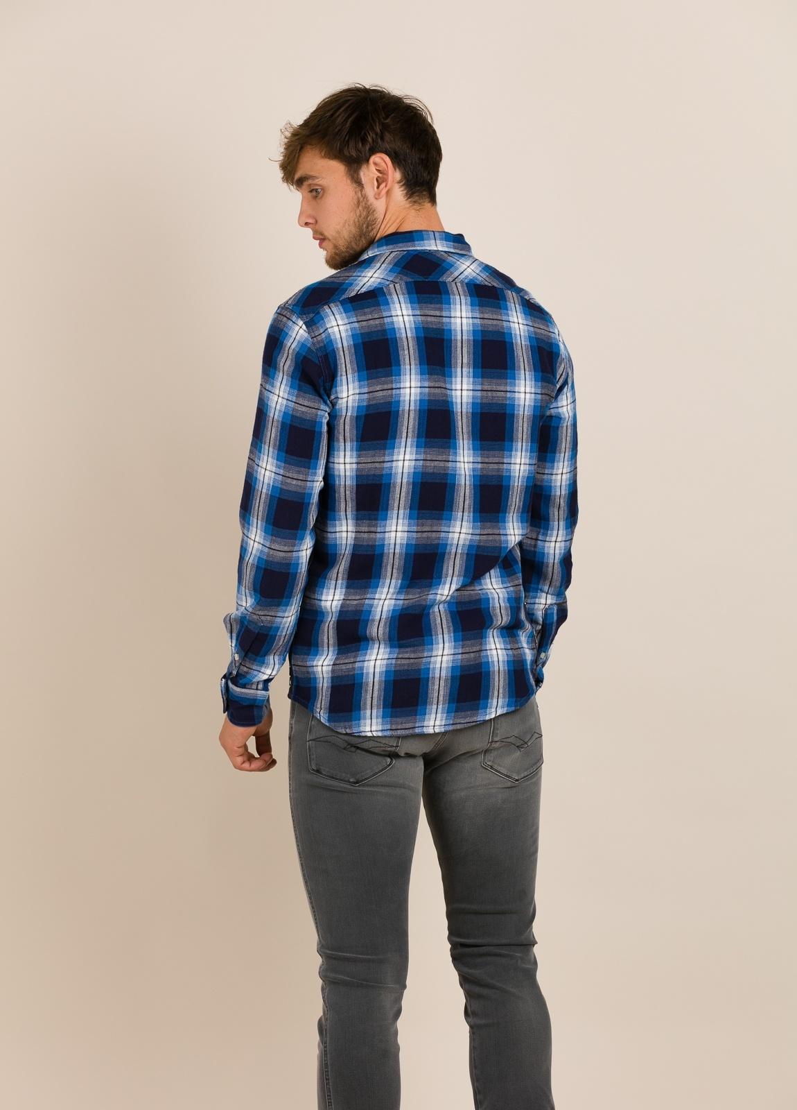 Camisa REPLAY cuadros azules - Ítem2