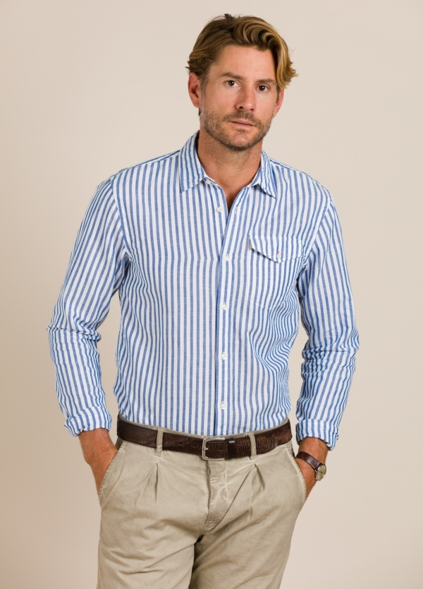 Camisa SCOTCH & SODA rayas .