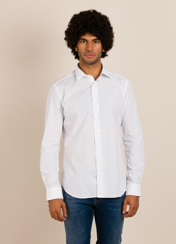 Camisa sport ROBERT FRIEDMAN microdibujo blanca