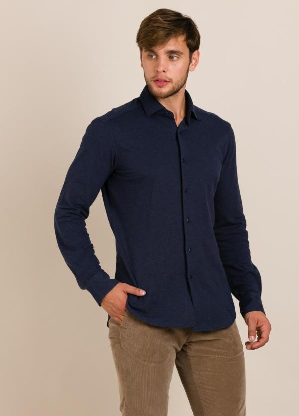 Camisa sport de punto ROBERT FRIEDMAN azul marino