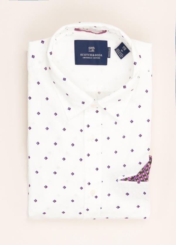 Camisa SCOTCH & SODA estampada blanca