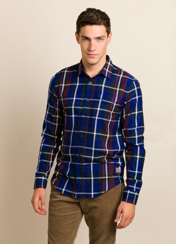 Camisa scotch & soda cuadros azules