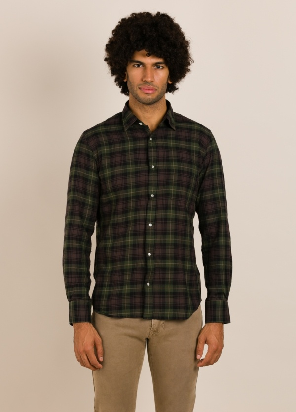 Camisa HARTFORD cuadros verde