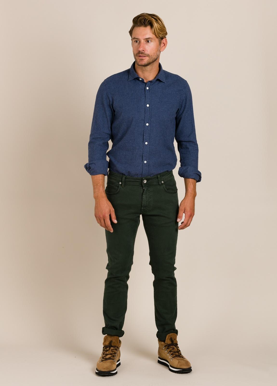 Camisa HARTFORD cuadros azul - Ítem5