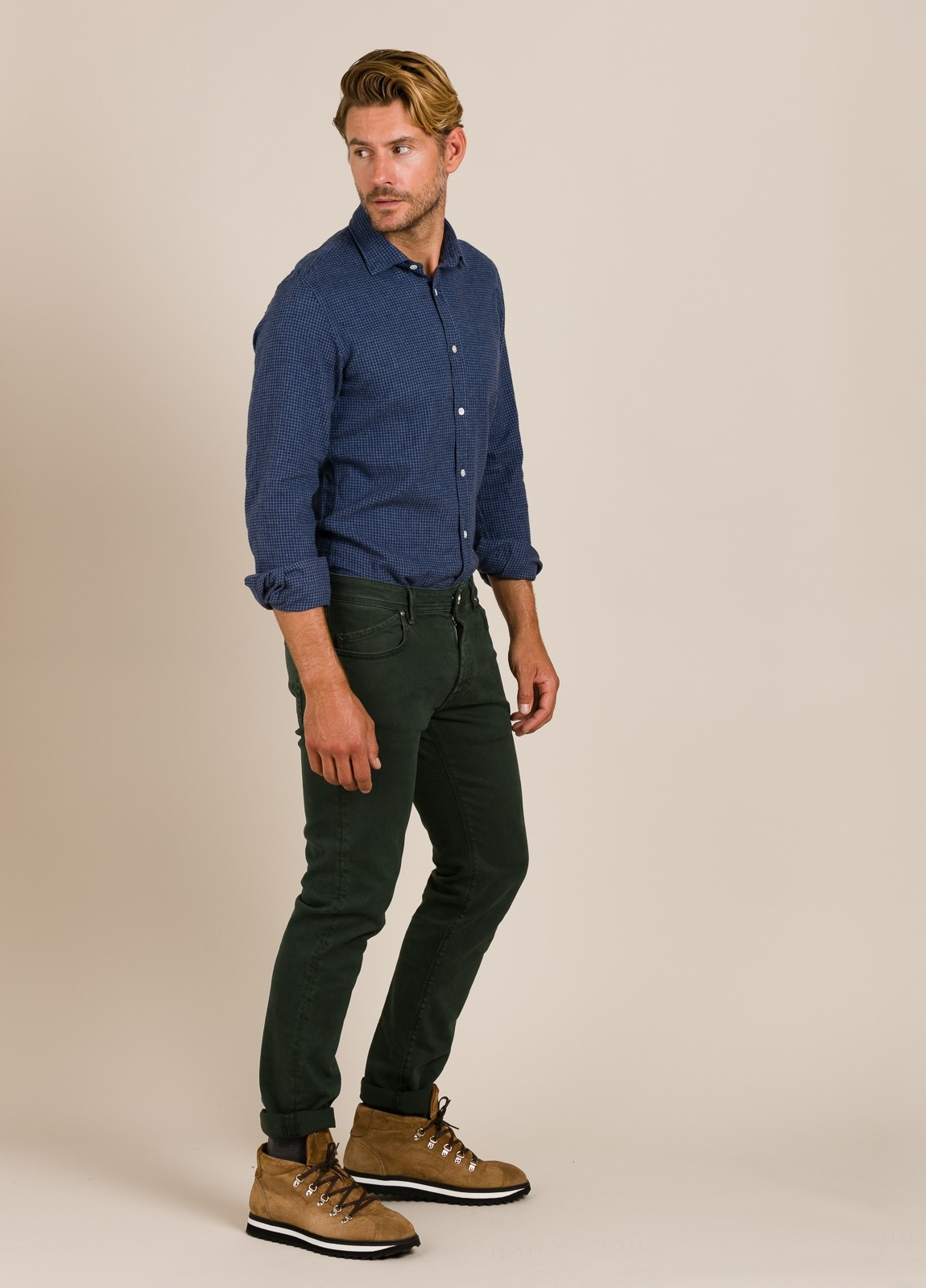 Camisa HARTFORD cuadros azul - Ítem1