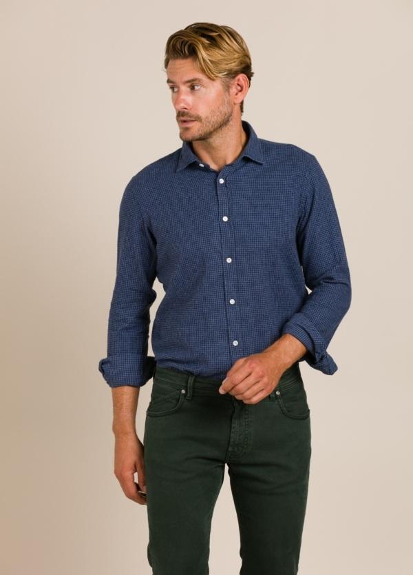 Camisa HARTFORD cuadros azul