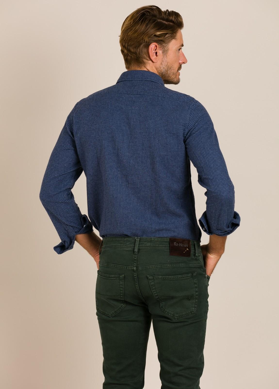 Camisa HARTFORD cuadros azul - Ítem4