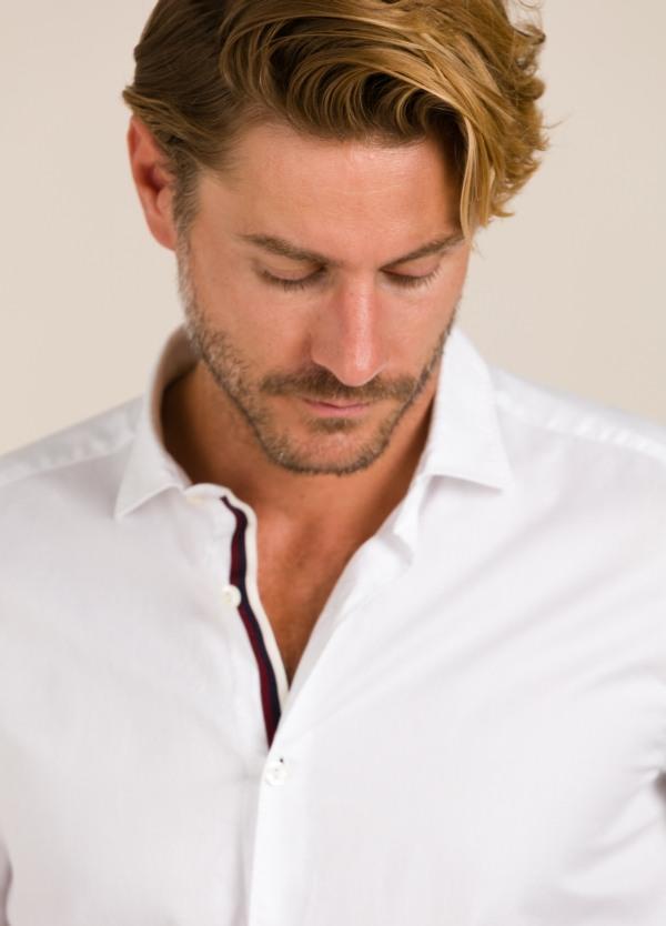 Camisa sport TINTORIA MATEI lisa blanca