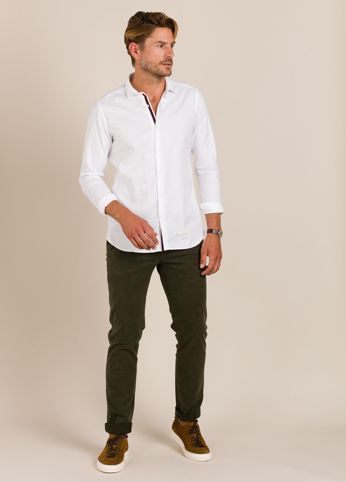 Camisa sport TINTORIA MATEI lisa blanca - Ítem3