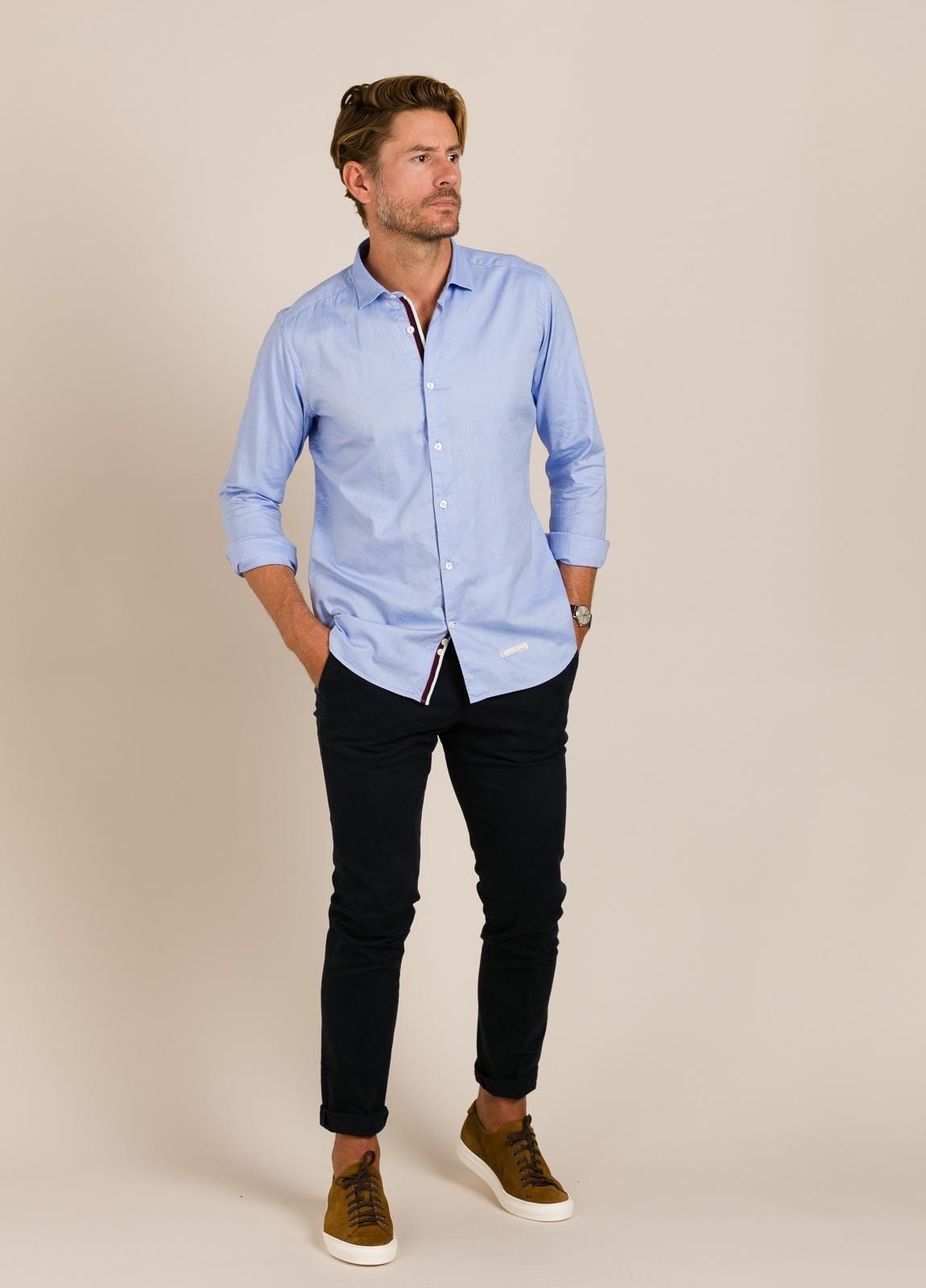 Camisa sport TINTORIA MATEI lisa azul - Ítem1