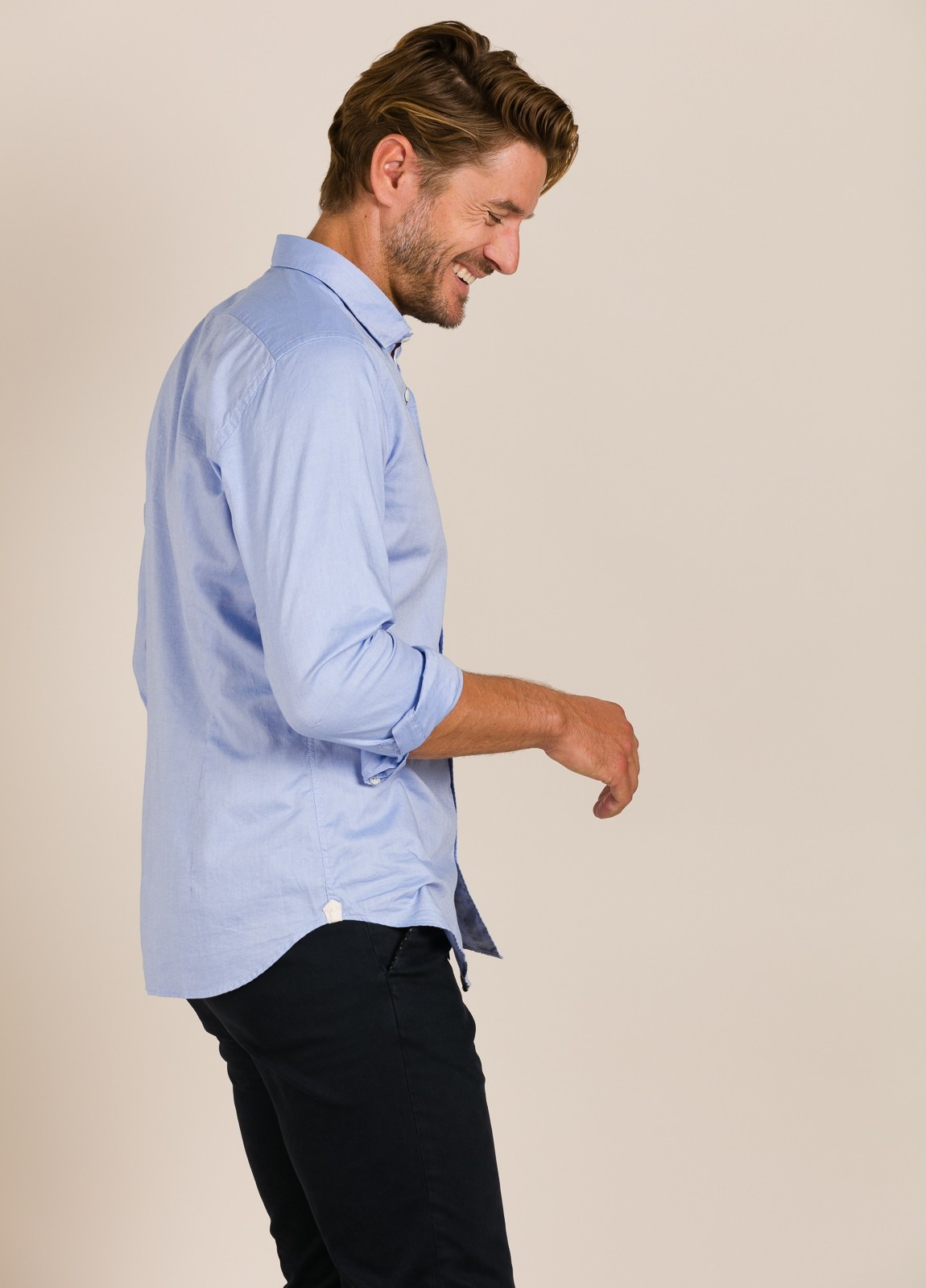 Camisa sport TINTORIA MATEI lisa azul - Ítem2