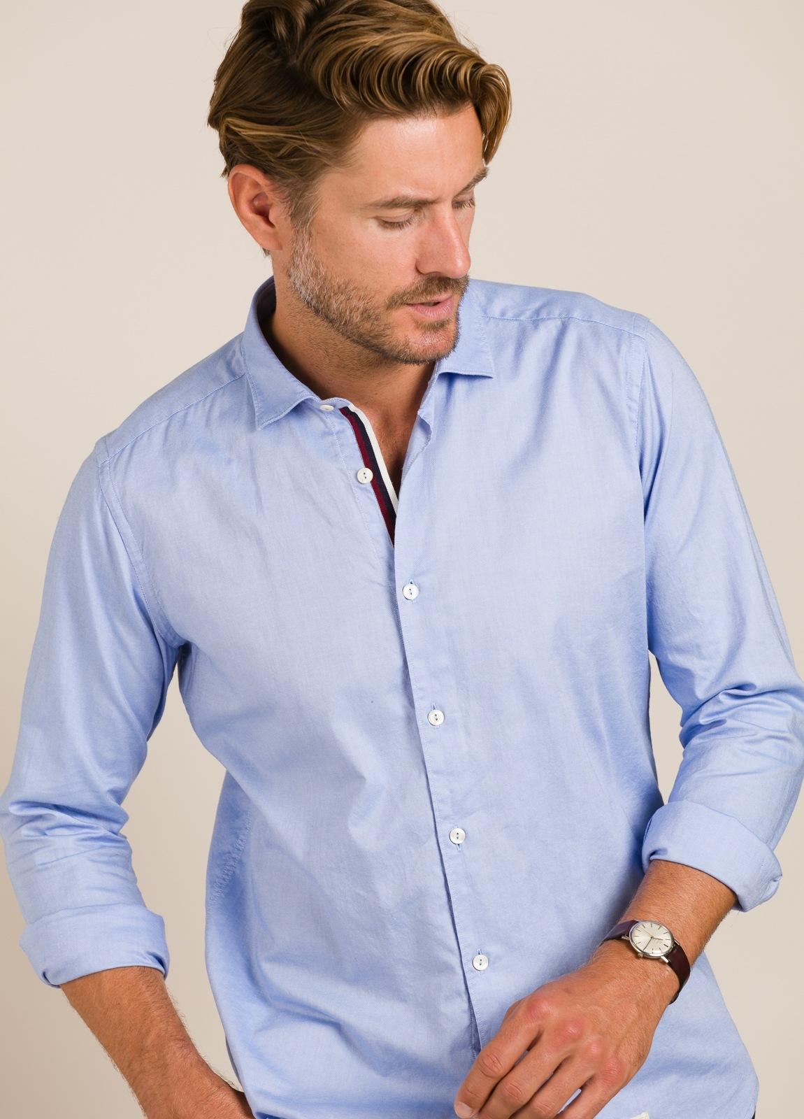 Camisa sport TINTORIA MATEI lisa azul - Ítem3