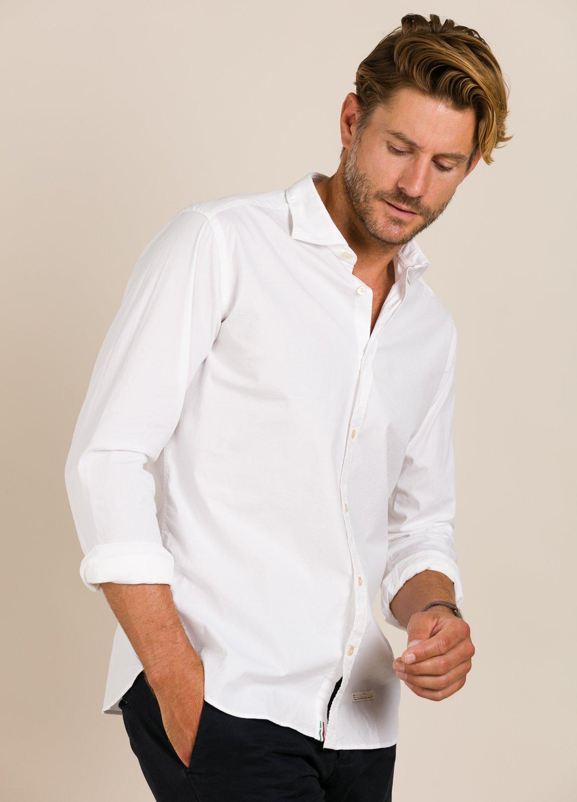 Camisa sport TINTORIA MATEI lisa blanca - Ítem2