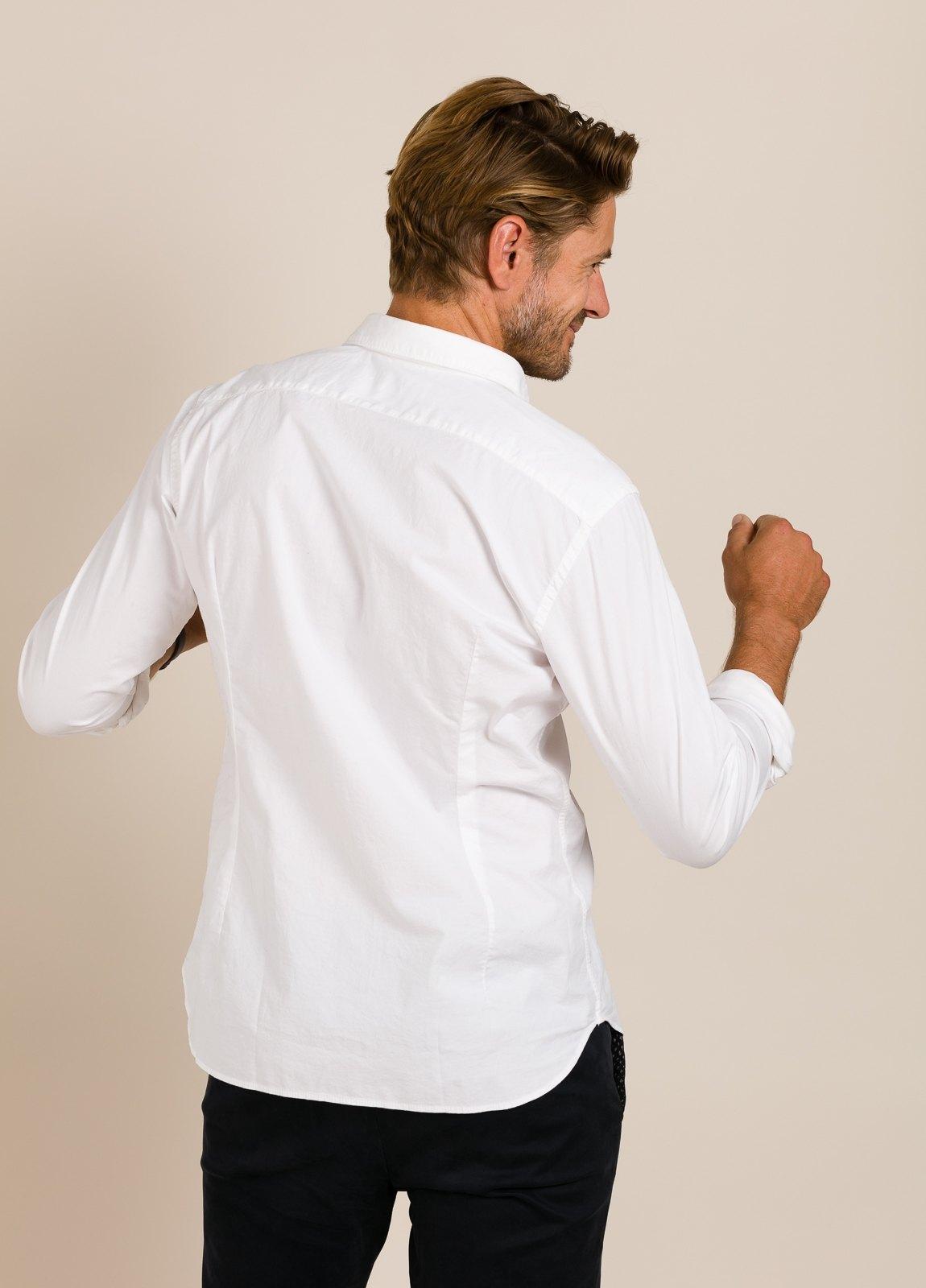 Camisa sport TINTORIA MATEI lisa blanca - Ítem4