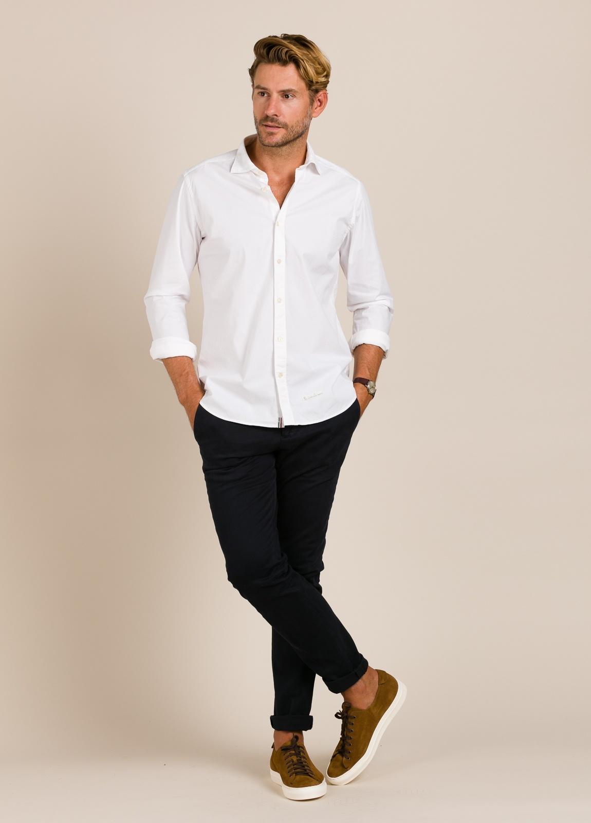 Camisa sport TINTORIA MATEI lisa blanca - Ítem1