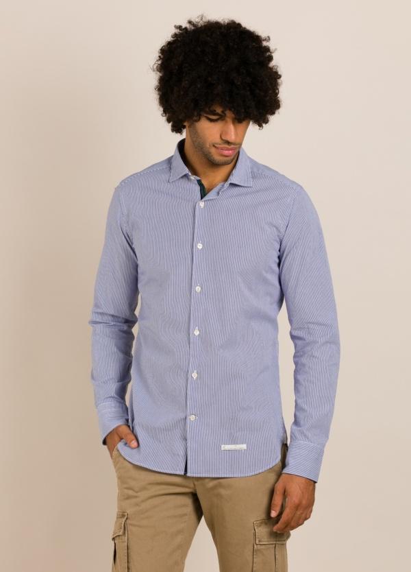 Camisa sport TINTORIA MATEI rayas azul