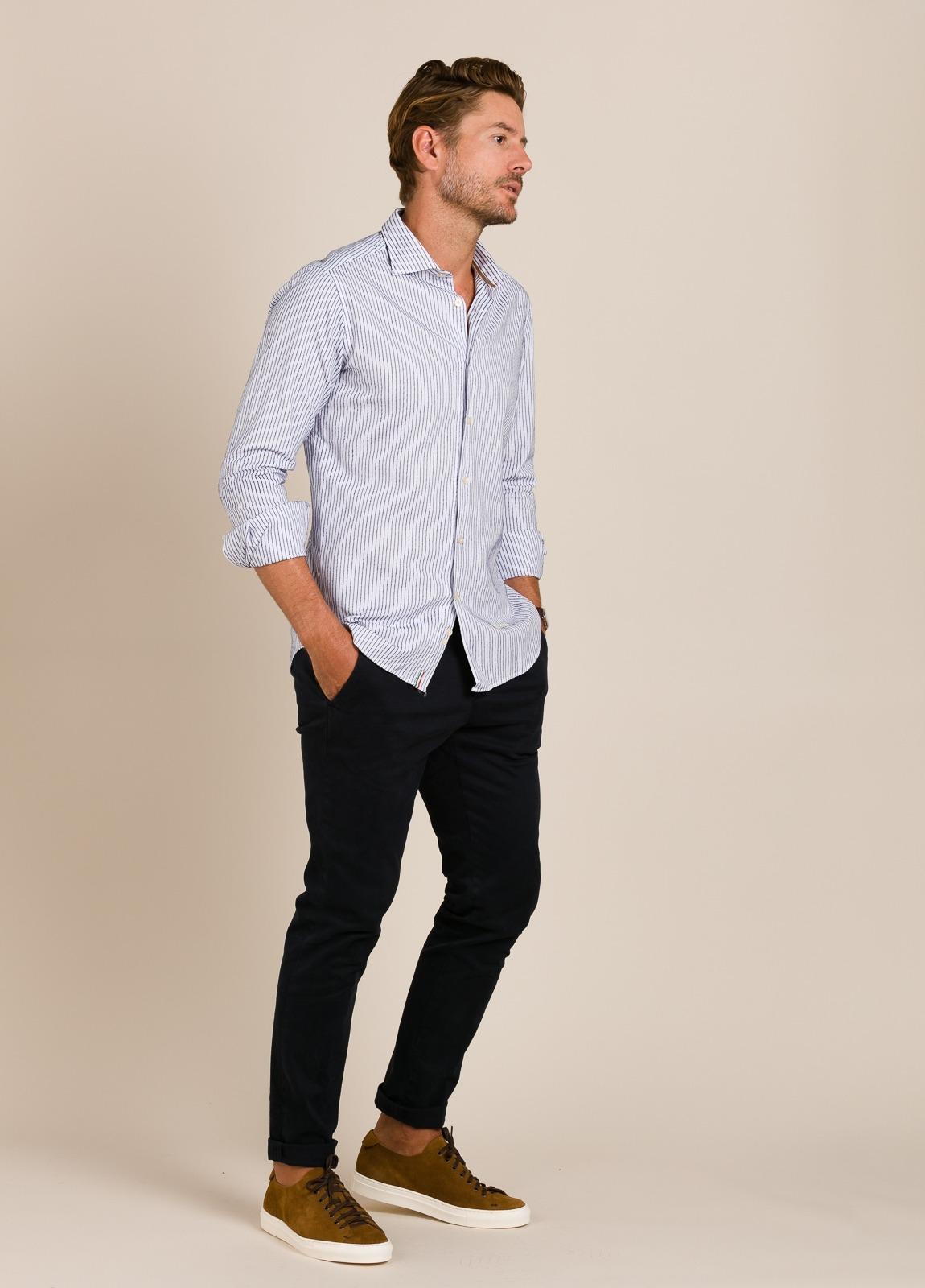Camisa sport TINTORIA MATEI rayas azules - Ítem4