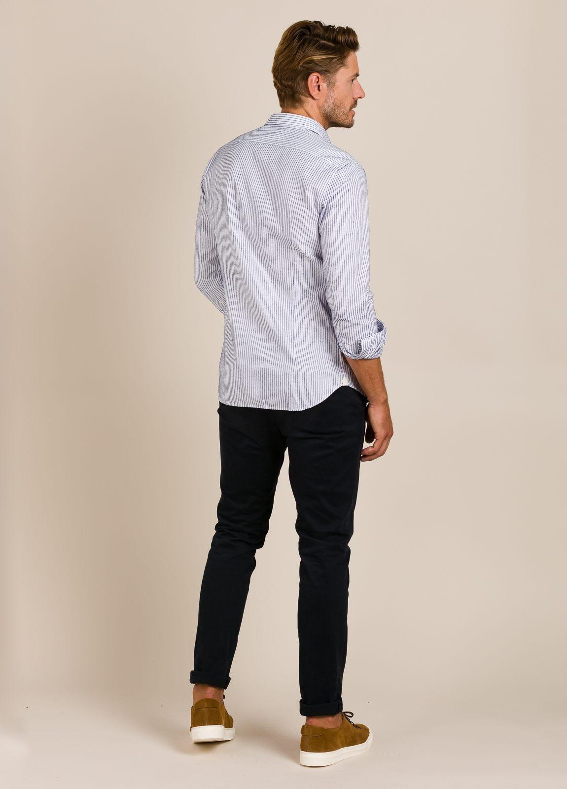 Camisa sport TINTORIA MATEI rayas azules - Ítem1