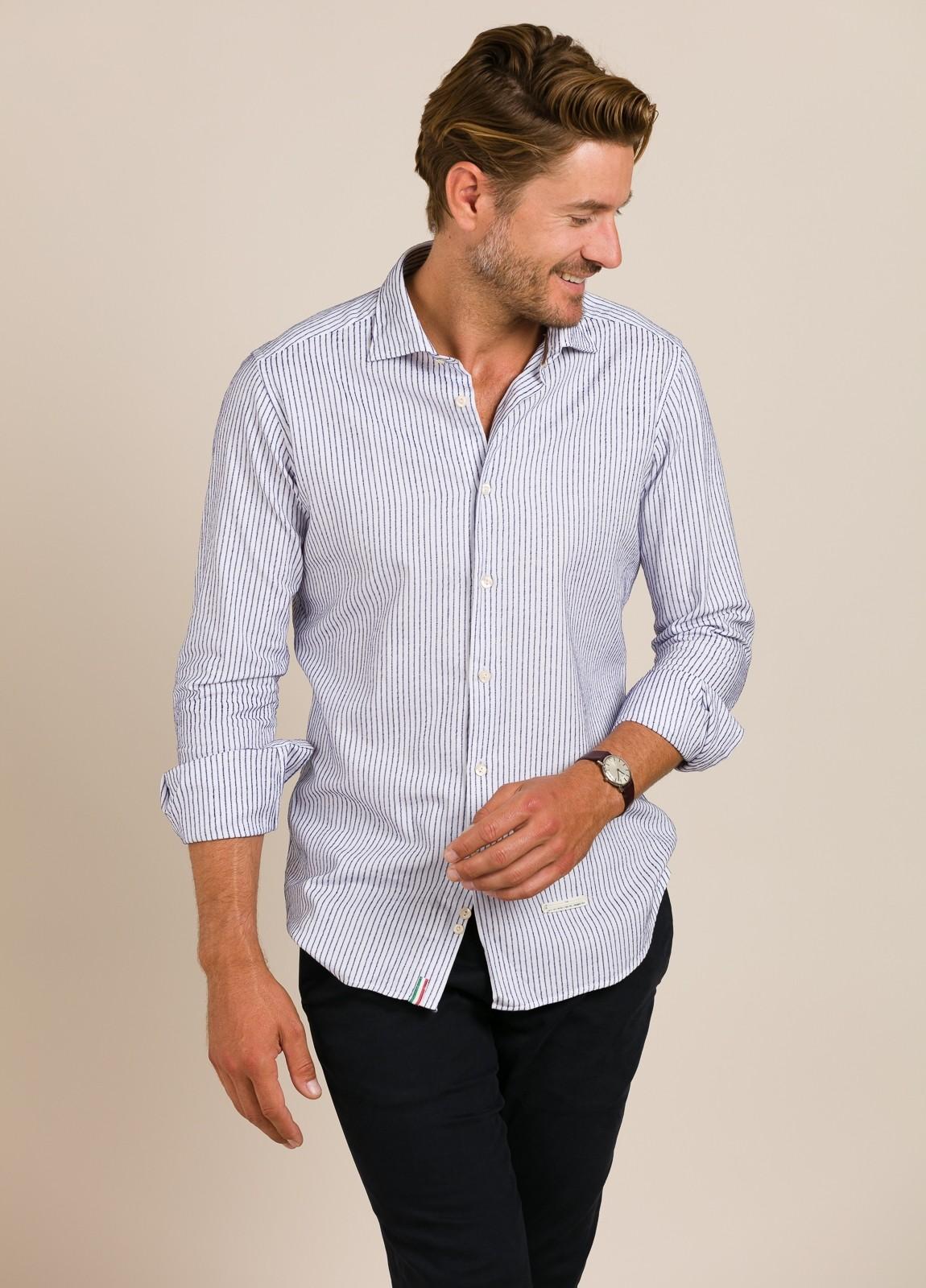 Camisa sport TINTORIA MATEI rayas azules