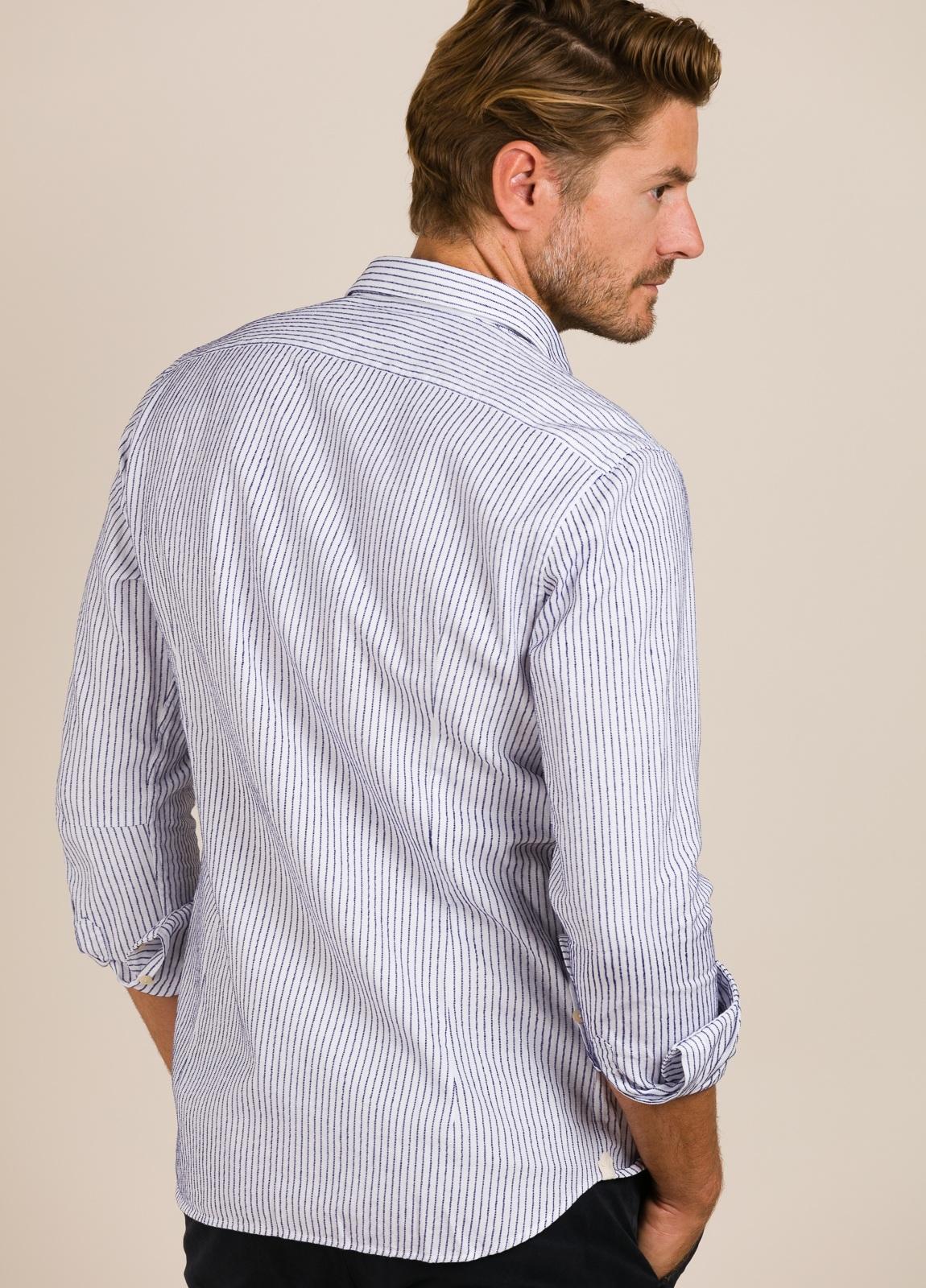Camisa sport TINTORIA MATEI rayas azules - Ítem2
