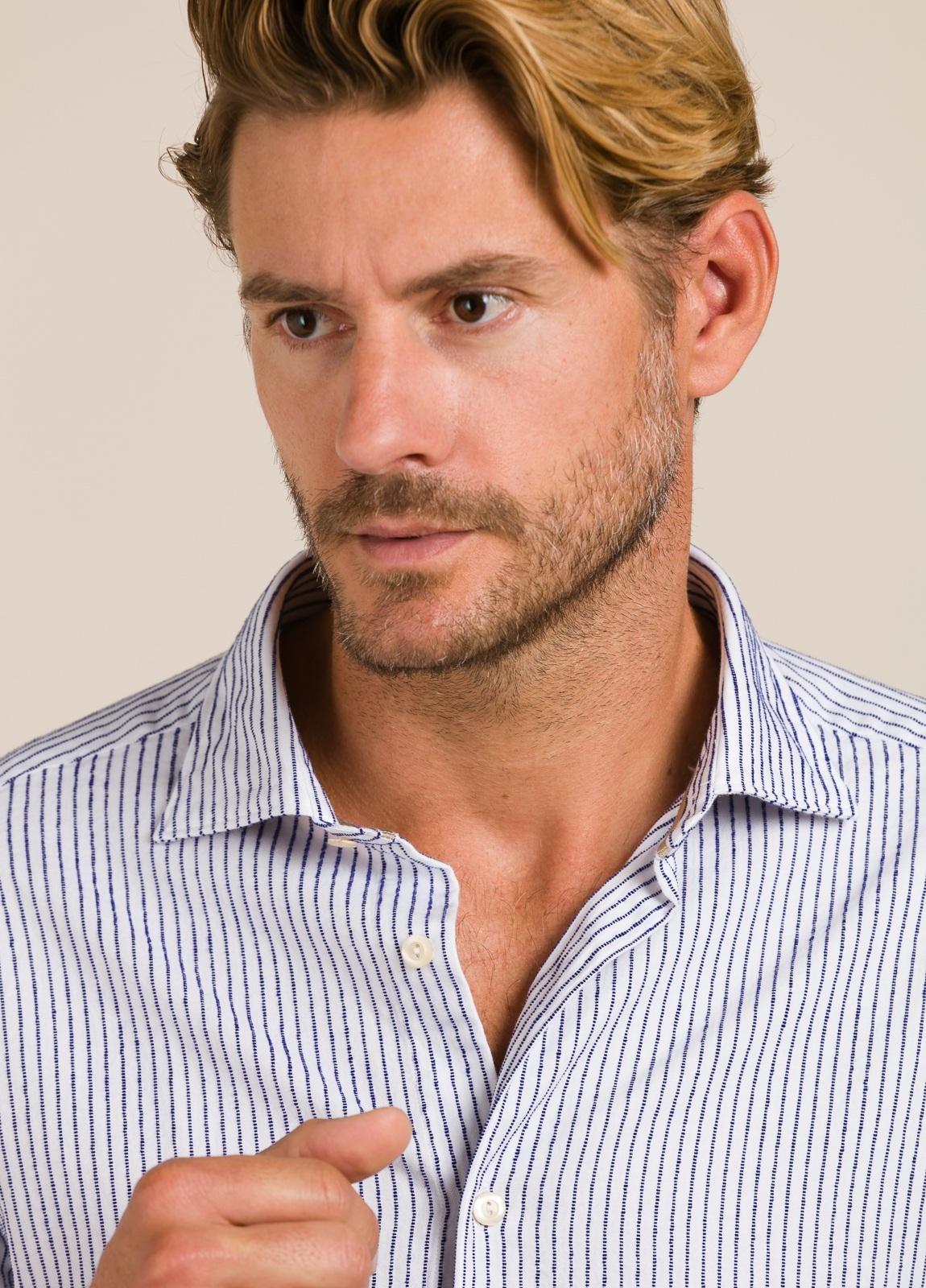 Camisa sport TINTORIA MATEI rayas azules - Ítem3