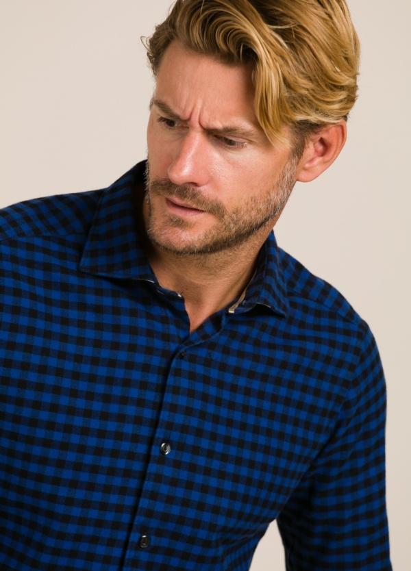 Camisa sport TINTORIA MATEI cuadros azules