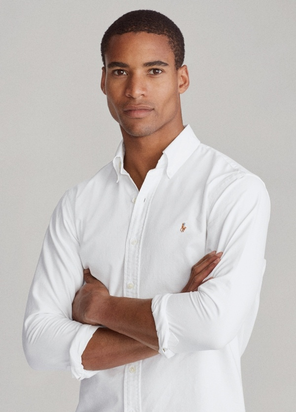 Camisa POLO RALPH LAUREN oxford color blanco