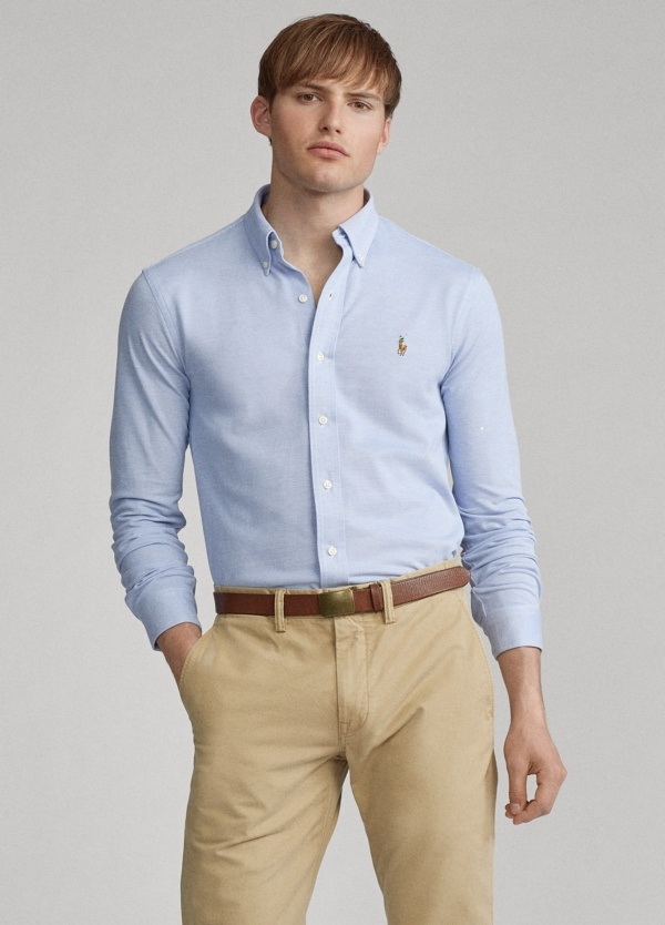 Camisa POLO RALPH LAUREN oxford color celeste