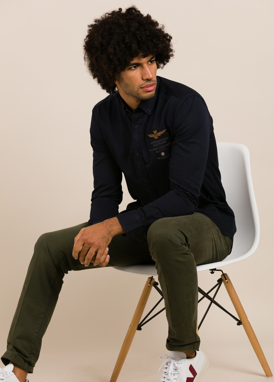 Camisa AERONAUTICA MILITARE azul marino