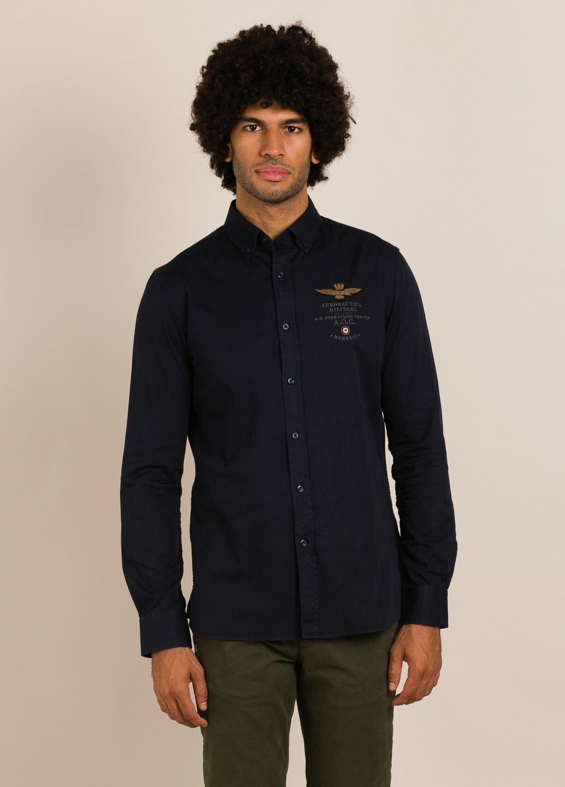 Camisa AERONAUTICA MILITARE azul marino - Ítem1