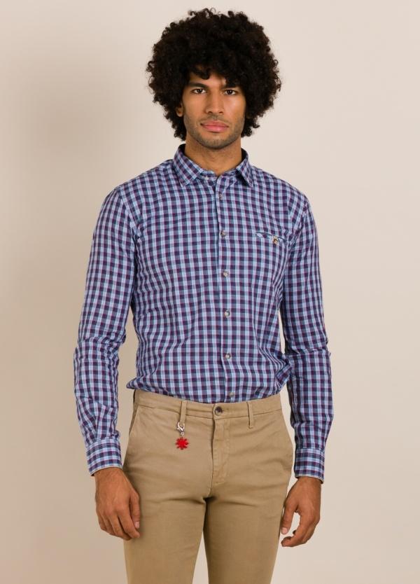 Camisa sport ALESSANDRO LAMURA cuadros azul