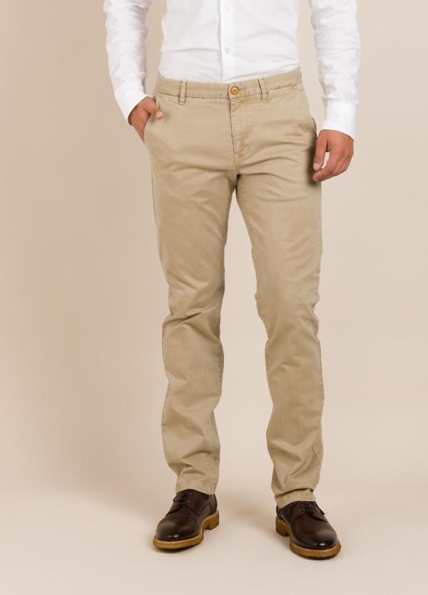 Pantalón chino FUREST COLECCIÓN regular fit beige