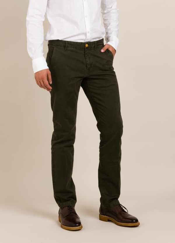 Pantalón chino FUREST COLECCIÓN regular fit verde