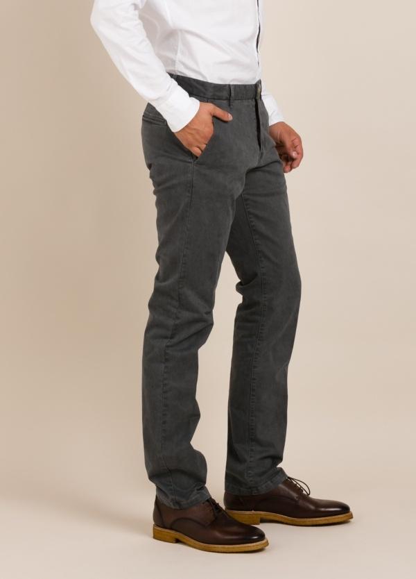 Pantalón chino FUREST COLECCIÓN regular fit gris oscuro