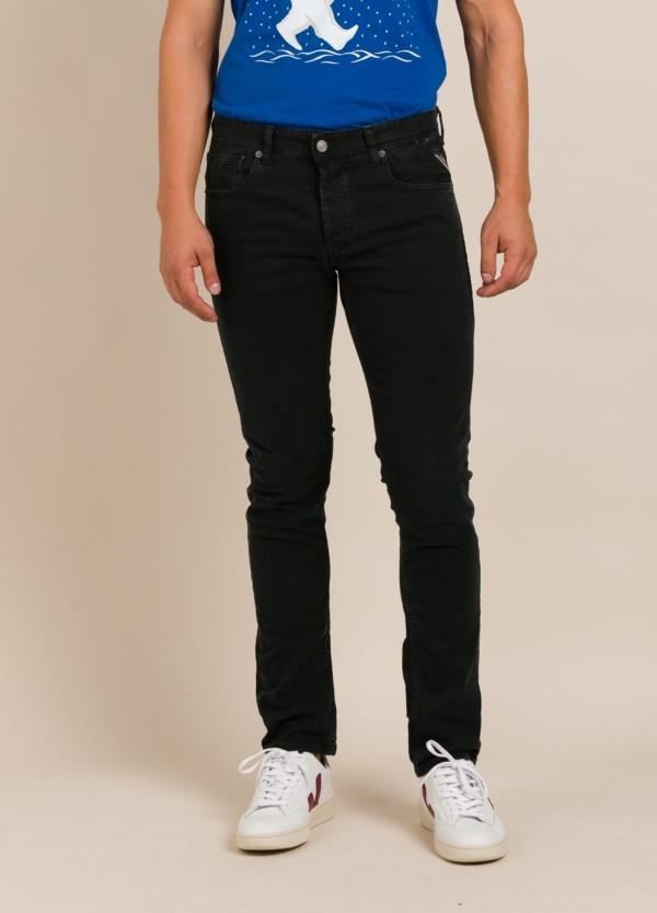 Pantalón tejano REPLAY negro lavado