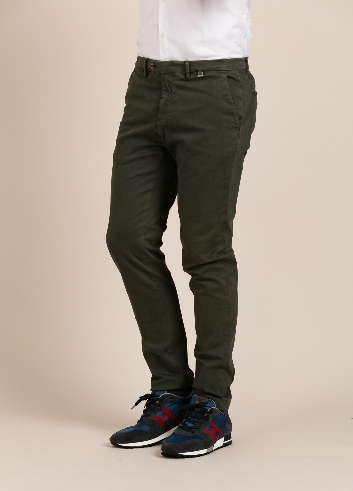 Pantalón chino PAOLONI verde kaki. - Ítem1