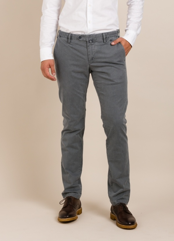 Pantalón chino AT.P.CO dibujo gris