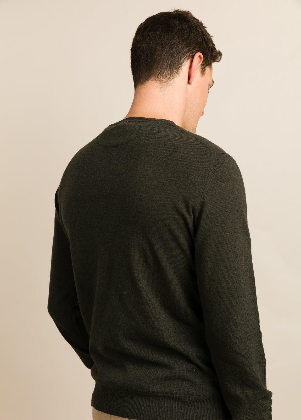 Jersey FUREST COLECCIÓN cuello redondo verde botella - Ítem3