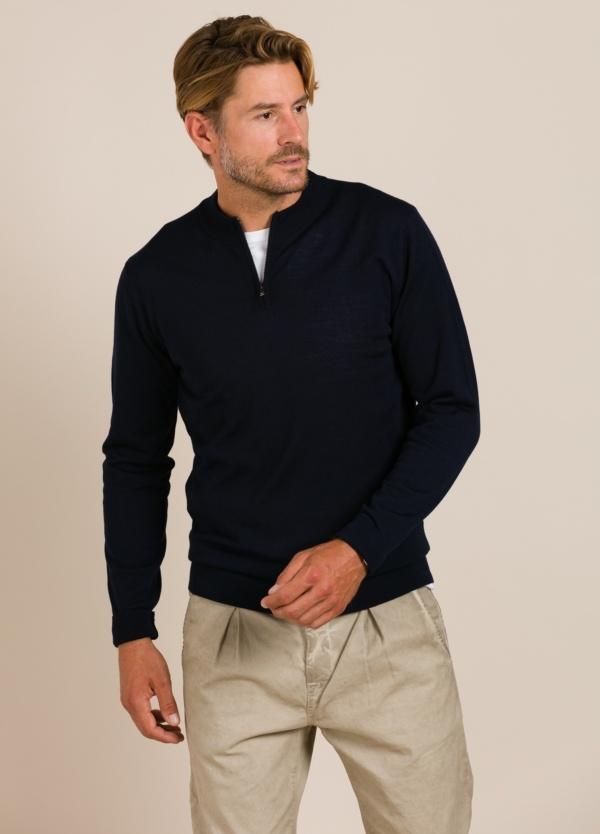 Jersey FUREST COLECCIÓN cuello cremallera marino