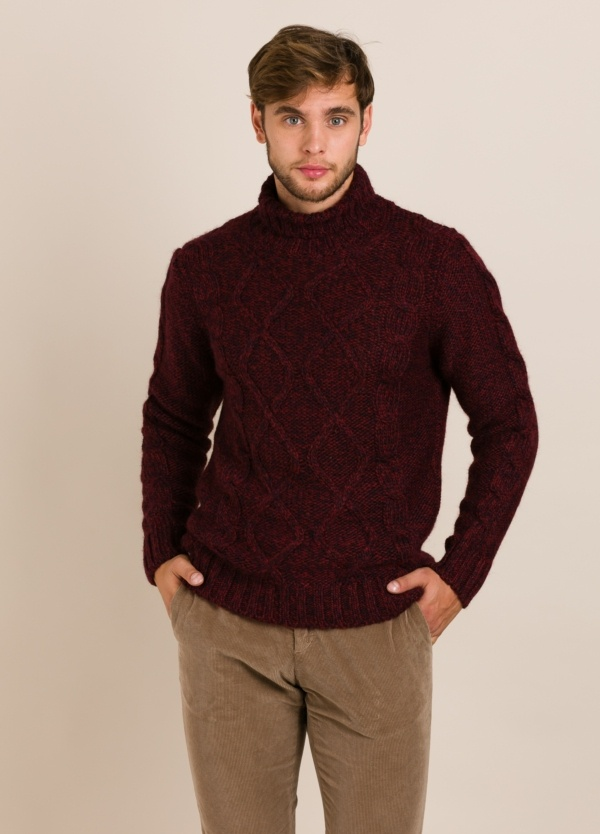 Jersey WOOL & CO color vino