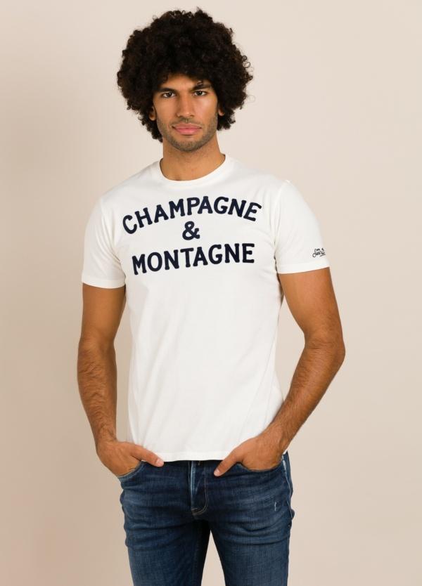 Camiseta MC2 blanca con estampado gráfico