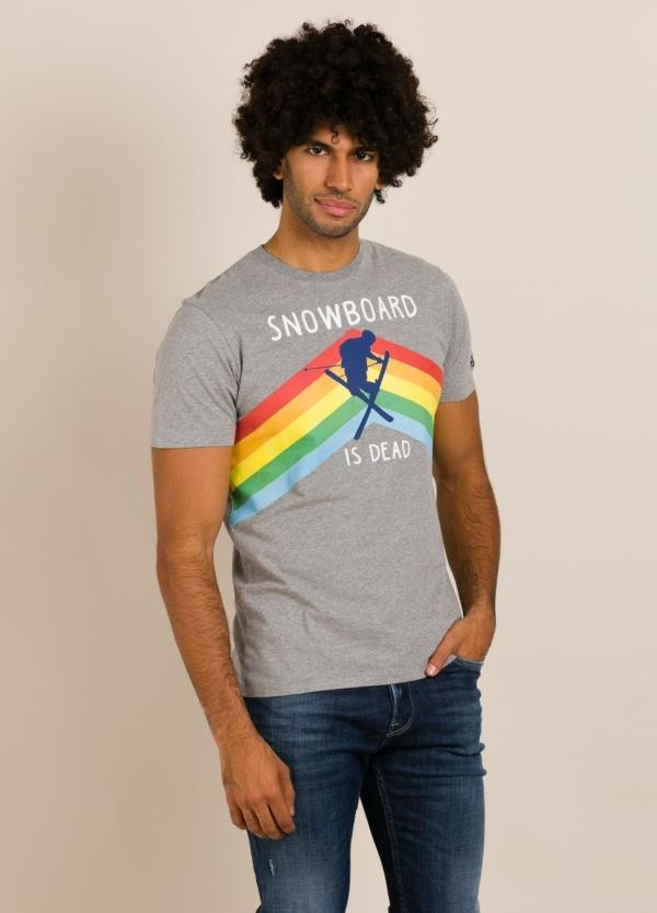 Camiseta MC2 gris con estampado gráfico