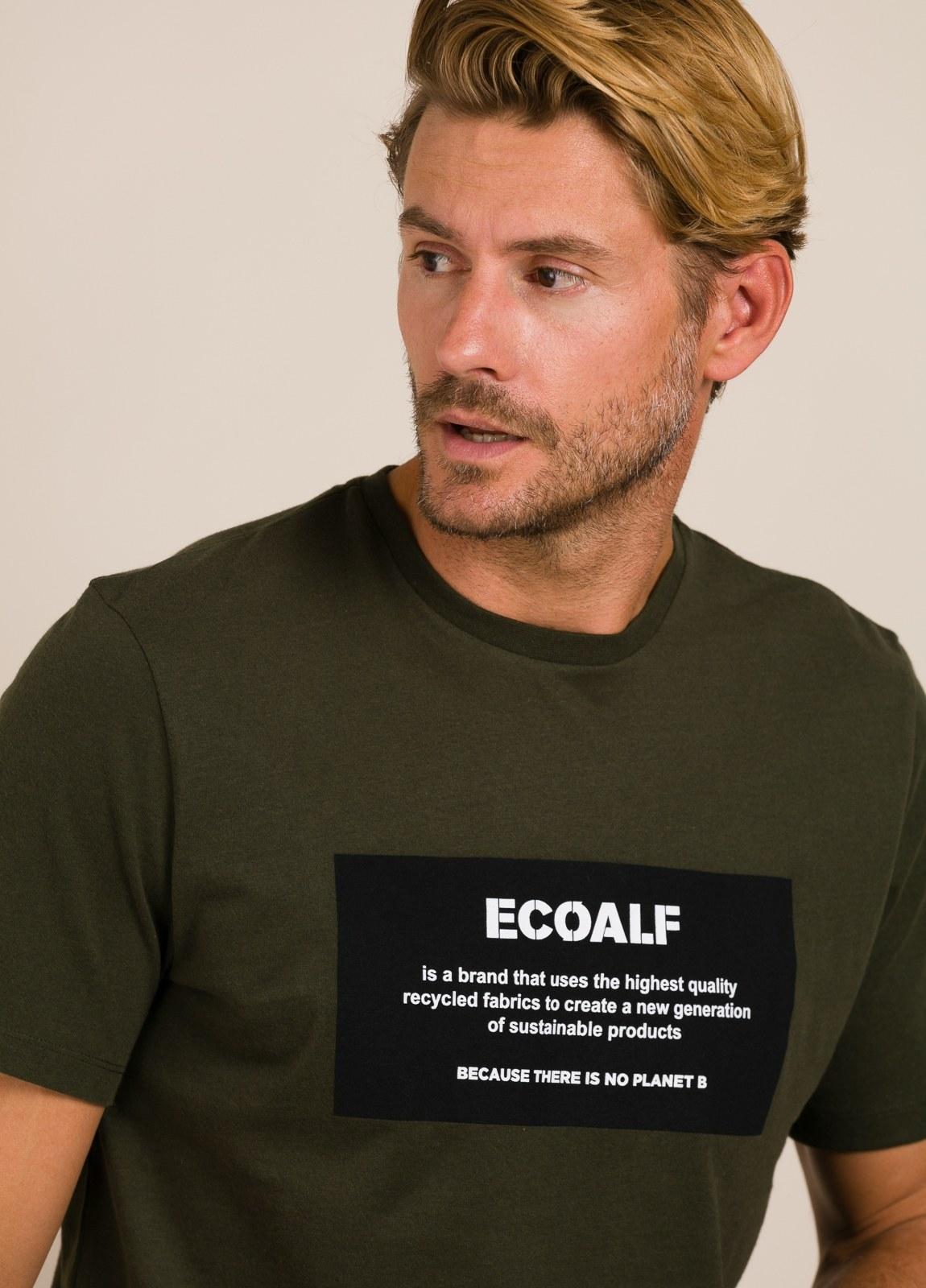 Camiseta verde ECOALF con texto estampado - Ítem2