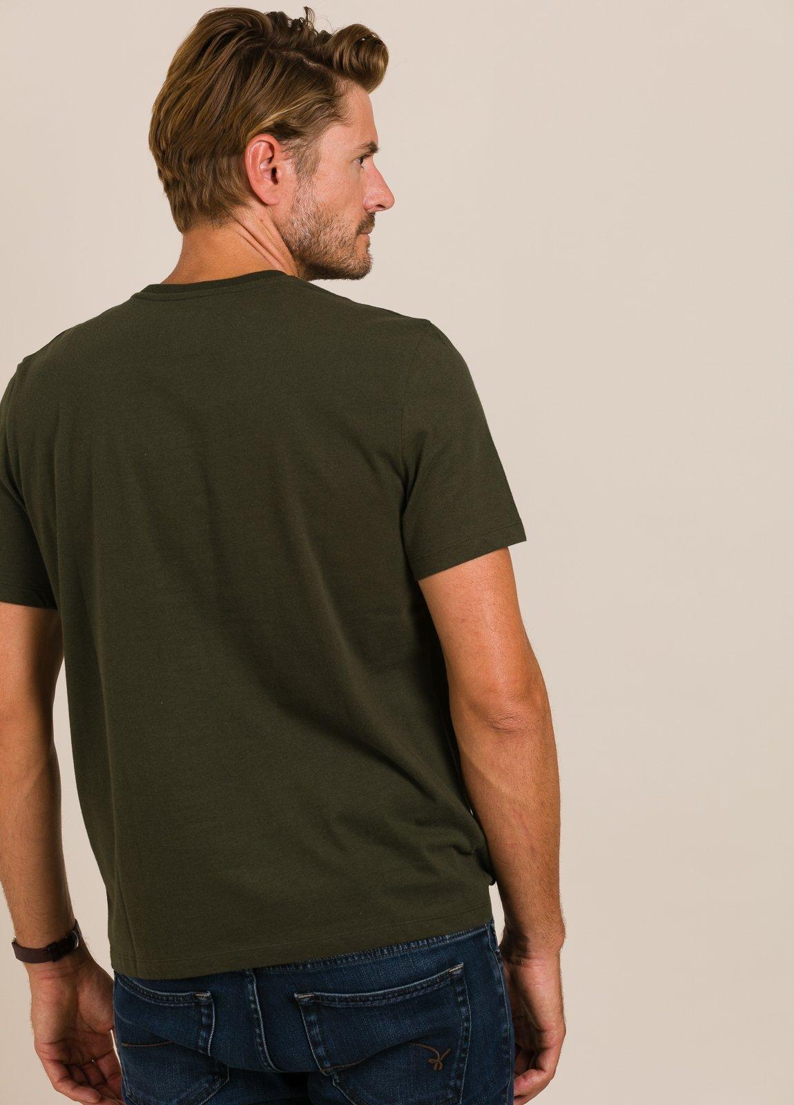 Camiseta verde ECOALF con texto estampado - Ítem1