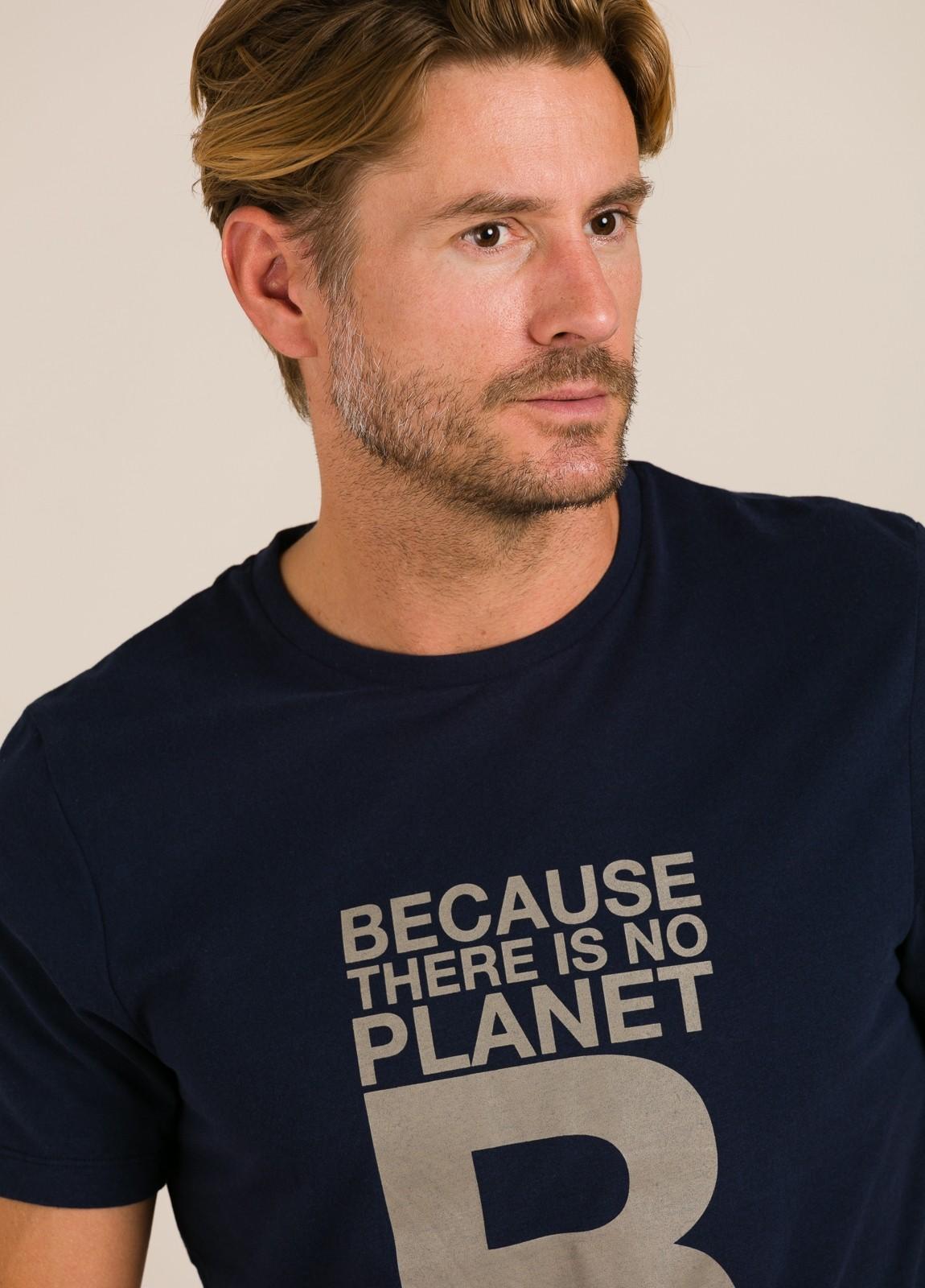 Camiseta azul marino ECOALF con texto estampado - Ítem1
