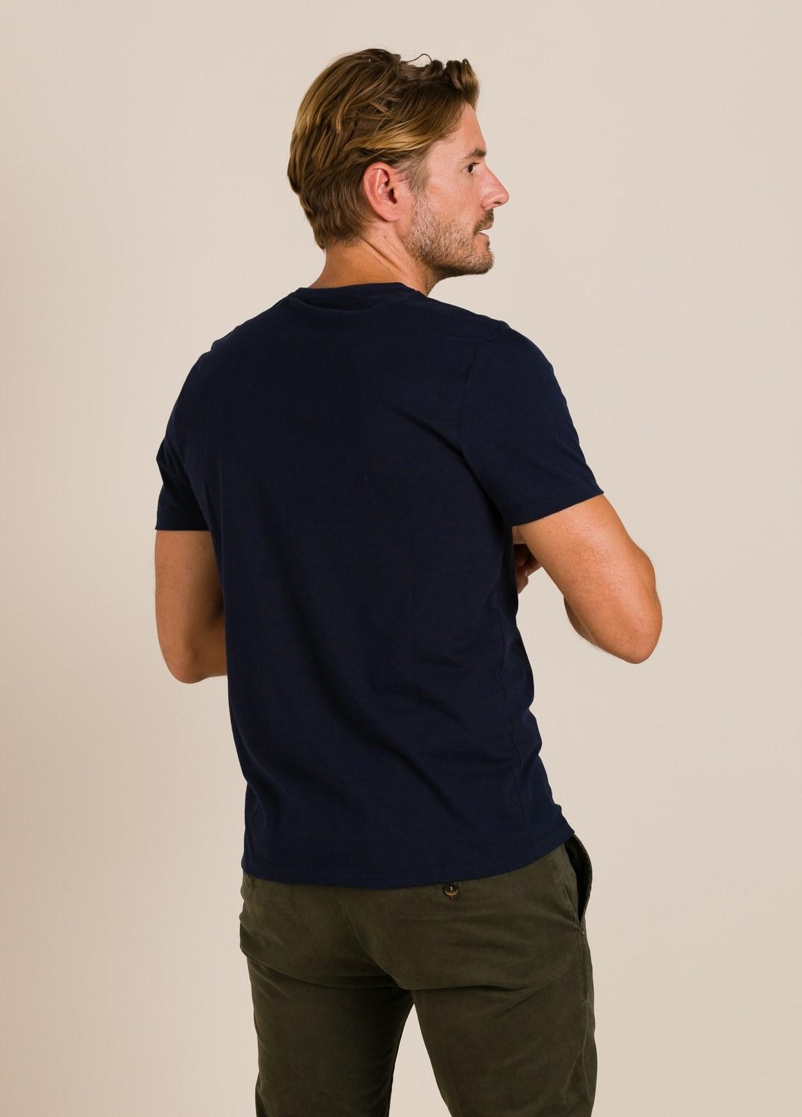 Camiseta azul marino ECOALF con texto estampado - Ítem2