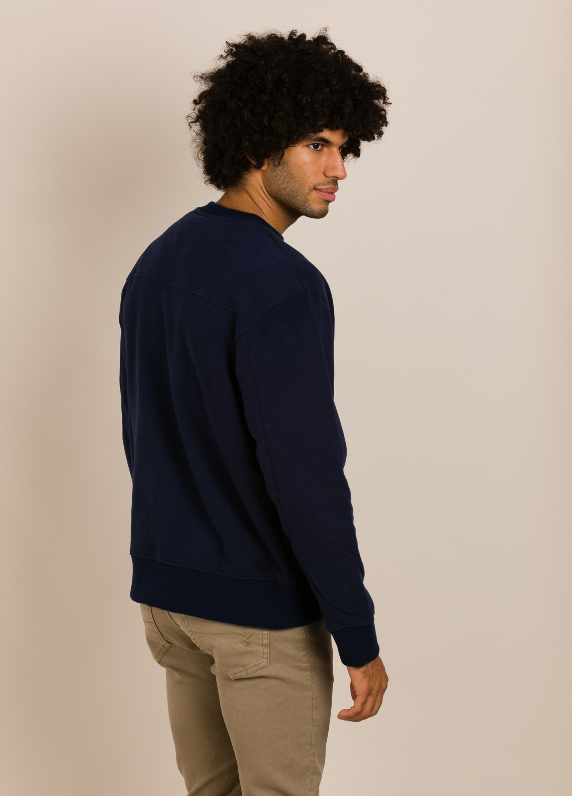 Sudadera ECOALF azul marino con texto estampado - Ítem1
