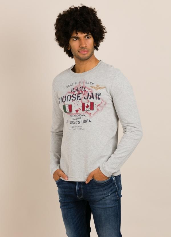 Camiseta AERONAUTICA MILITARE gris.